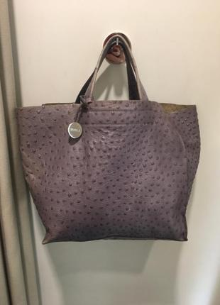 Кожаная сумка furla оригинал шоппер
