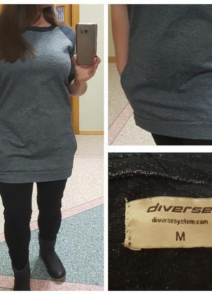 Демисезонное платье-туника с карманами diverse