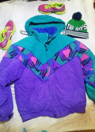 Лот зимняя куртка+шапка fila италия дитя 90-х круть