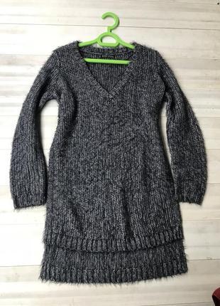 Актуальный свитер в крупную вязку