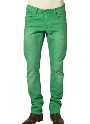 Джинсы прямые зеленые делаве w33 l34 *garcia jeans* италия