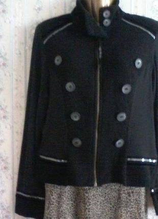 Шерстяной пиджак жакет кардиган  дизайнерский, разм. 46
