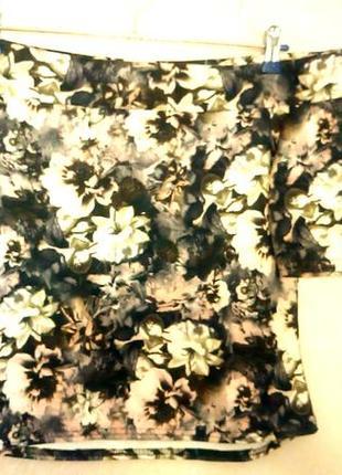 Топ на плечах в цветочный принт