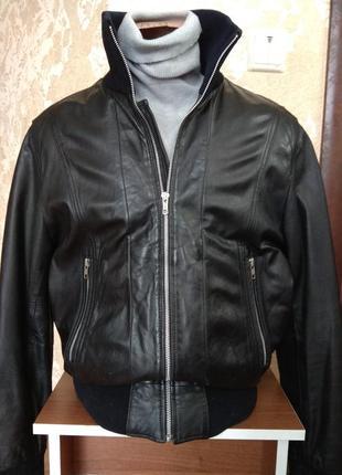 Куртка кожаная на резинке scandinavia