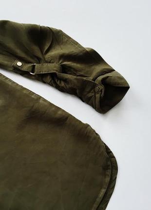 Стильная плотная рубашка цвета хаки с длинным рукавом new look2