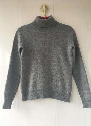 Тёплый базовый кашемировый шерстяной гольф свитер, натуральный кашемир, шерсть