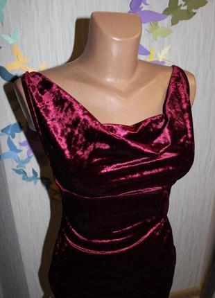 Нежное велюровое платье5