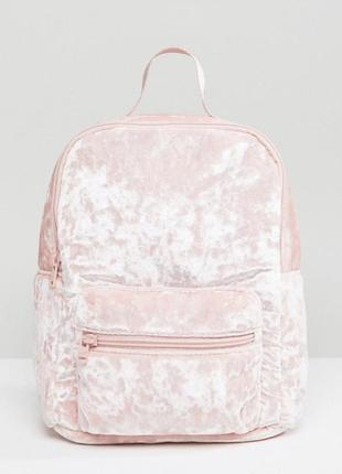 Рюкзак из мятого бархата hollister