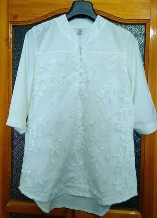 Красивая белая блуза, размер хл