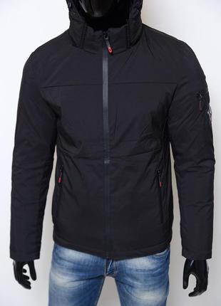 Куртка мужская зимняя sls 7562-1 soft shell черная