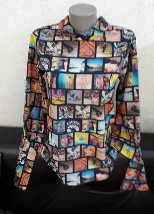 "#розвантажуюсь авангардная блуза в стиле ""реклама""."