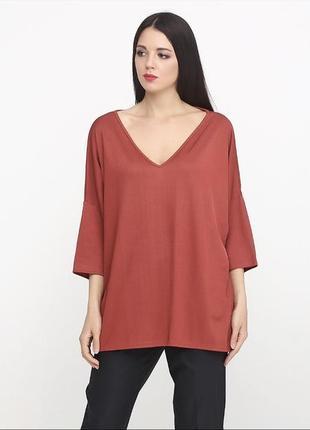 Блуза -топ в рубчик