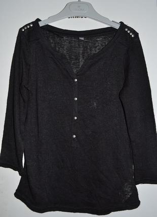 Эффектная тончайшая трикотажная  рубашка-кофточка-блузочка pimkie с металлическими шипами