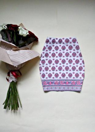 Трикотажная облегающая юбка