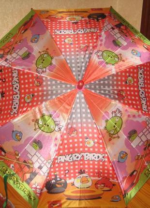 Новый детский зонт-полуавтомат angree birds
