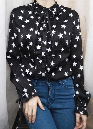 Блуза/блуза с воланами/блузка со звездами