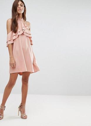 Sale! только до 13.01! платье с чокетом и рюшами новое new look