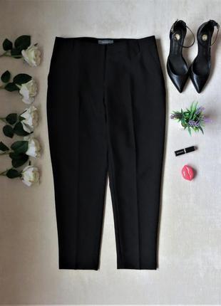 Классические черные зауженные брюки