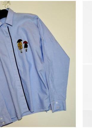 Оверсайз рубашка с аппликацией от zara