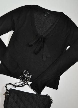 Стильная черная кофта h&m с бантом