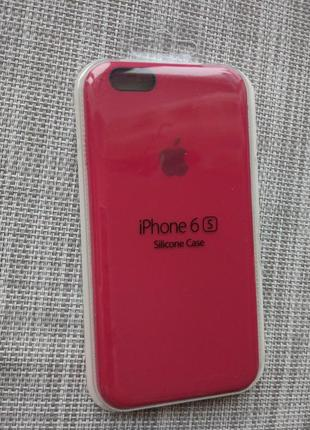 Чехол silicon case на iphone 6/ 6s rose red
