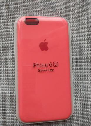 Чехол silicon case на iphone 6/ 6s pink розовый