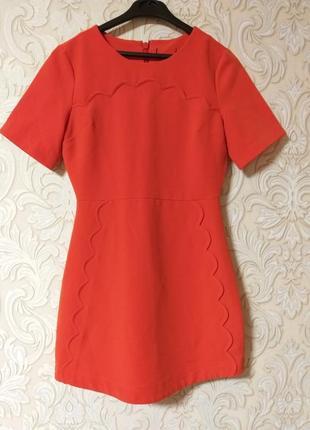 Нарядное платье плотная ткань uk 8 наш 42
