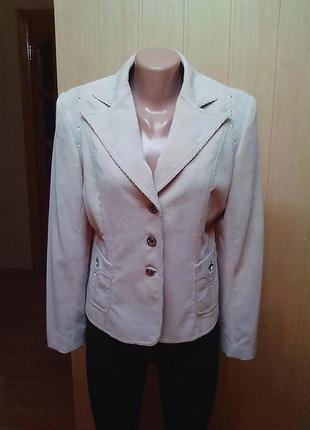 Жакет,пиджак,кардиган,микровельвет,бренд-оригинал.46р.1 фото