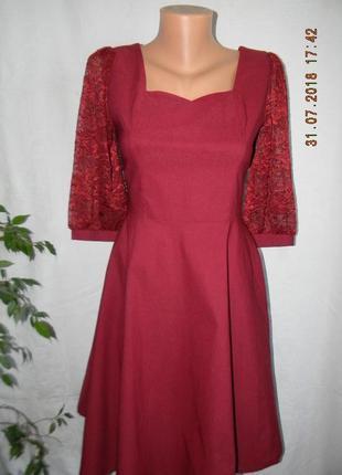 Новое красивое платье с кружевными рукавами  miusol