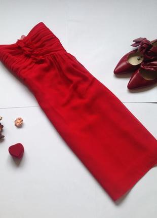 Красное шифоновое платье vera mont. смотрите мои объявления!