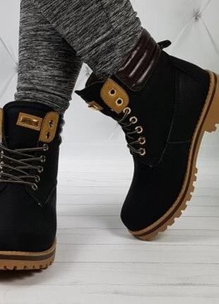 Новые черные зимние ботинки тимберденды размер 36,38,39