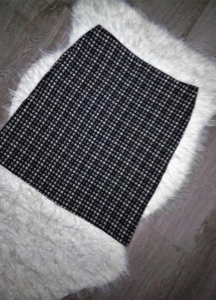 Шикарного качества шерстяная юбка в клетку осень-зима-весна, marks & spencer