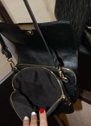 Стеганная сумка на длинной  ручке3 фото
