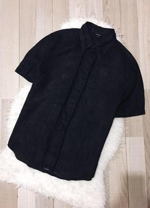Брендовая льняная рубашка calvin klein