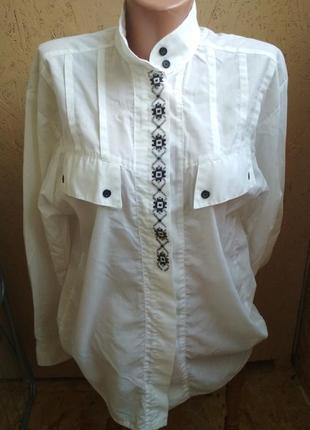 Рубашка белая с вышивкой 072