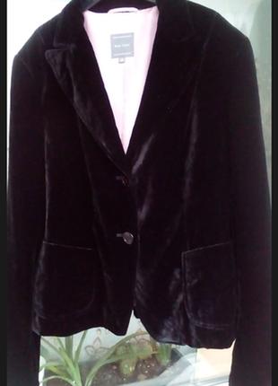 Бархатный блейзер велюровый пиджак шёлк