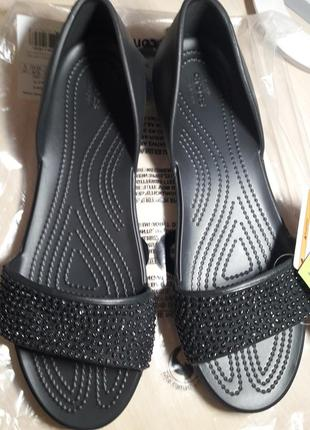Босоножки кроксы crocs lina embellished d´orsay. оригинал. размер w11