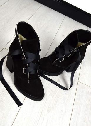 Зимние ботиночки violla 2 черный замша 9709d3bc7449f