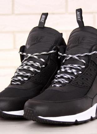 4a394dd3 Кроссовки мужские найк nike air max 90 sneakerboot winter black/white