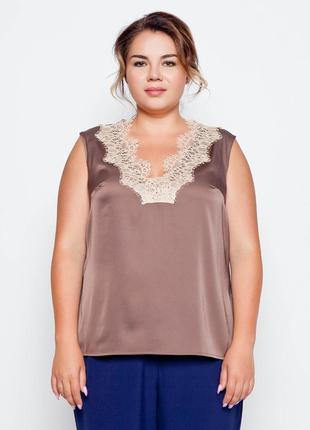 Блуза в бельевом стиле от grand ua размер 56 красивого цвета пряность