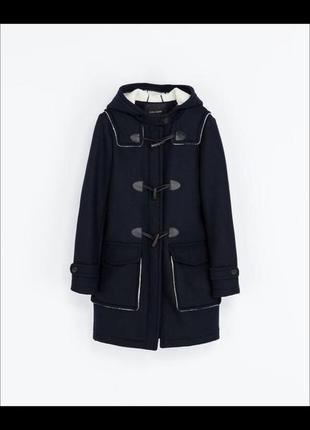 Шерстяное пальто- дафлкот от zara