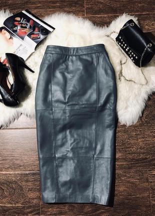 Шикарная юбка карандаш из натуральной кожи