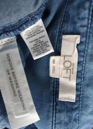 Стильный джинсовый комбинезон loft  из денима с поясом и карманами4 фото