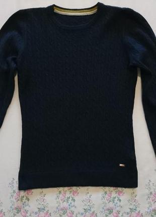 Цена снижена!зимний теплый свитер(кофта) синего цвета от h&m, размер xs-s