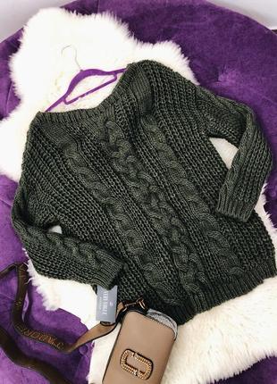 Стильный свитер оверсайз крупная вязка три цвета в наличии