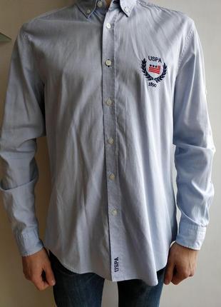 Рубашка u.s. polo assn светло-голубая