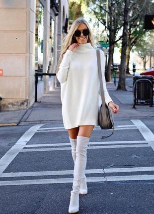 Стильное ангоровое платье