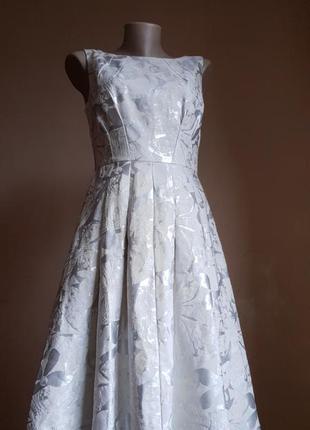 Красивое платье хлопок миди marks&spencer