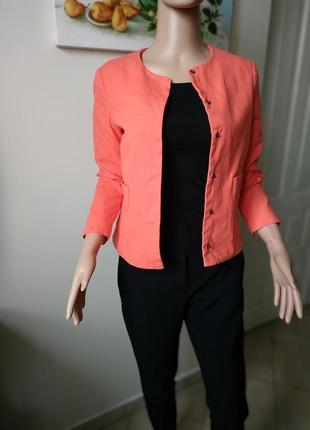 Яркий жакет/блейзер/пиджак теракотового цвета от zara -xs