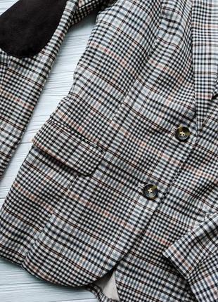 Пиджак жакет блейзер в клетку h&m4 фото
